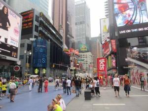 歩行者空間・タイムズスクエア(ニューヨーク・アメリカ)